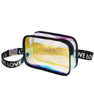 FESTIVAL Iridescent & Black Fanny Pack Belt Bag